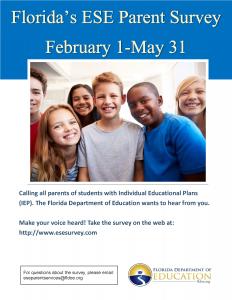 FDOE Annual ESE Parent Survey