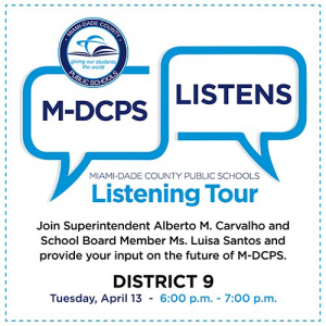 MDCPS Listening Tour with District 9 @ Zoom
